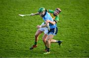 5 January 2020; Cian Derwin of Dublin in action against Michael Malone of Carlow during the 2020 Walsh Cup Round 3 match between Dublin and Carlow at Parnell Park in Dublin. Photo by Sam Barnes/Sportsfile