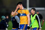 5 January 2020; Colin Guilfoyle of Clare reacts following the Co-op Superstores Munster Hurling League 2020 Group A match between Clare and Limerick at O'Garney Park in Sixmilebridge, Clare. Photo by Harry Murphy/Sportsfile