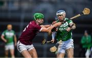 5 January 2020; TJ Reid of Ballyhale Shamrocks in action against Shane McGuigan of Slaughtneil the AIB GAA Hurling All-Ireland Senior Club Championship semi-final between Ballyhale Shamrocks and Slaughtnell at Pairc Esler in Newry, Co. Down. Photo by David Fitzgerald/Sportsfile