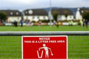 5 January 2020; A sign is seen prior to the Co-op Superstores Munster Hurling League 2020 Group A match between Clare and Limerick at O'Garney Park in Sixmilebridge, Clare. Photo by Harry Murphy/Sportsfile