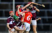 5 January 2020; Shane Cooney of St Thomas' gathers possession in a crowd during the AIB GAA Hurling All-Ireland Senior Club Championship semi-final between St Thomas' and Borris-Ileigh at LIT Gaelic Grounds in Limerick. Photo by Piaras Ó Mídheach/Sportsfile