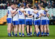 5 January 2020; The Monaghan team during the Bank of Ireland Dr McKenna Cup Round 2 match between Donegal and Monaghan at Páirc MacCumhaill in Ballybofey, Donegal. Photo by Philip Fitzpatrick/Sportsfile