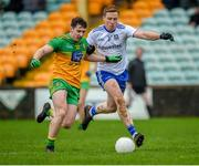 5 January 2020; James Brennan of Donegal in action against Kieran Duffy of Monaghan during the Bank of Ireland Dr McKenna Cup Round 2 match between Donegal and Monaghan at Páirc MacCumhaill in Ballybofey, Donegal. Photo by Philip Fitzpatrick/Sportsfile