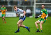 5 January 2020; Colin Walshe of Monaghan in action against Eoghan McGettigan of Donegal during the Bank of Ireland Dr McKenna Cup Round 2 match between Donegal and Monaghan at Páirc MacCumhaill in Ballybofey, Donegal. Photo by Philip Fitzpatrick/Sportsfile
