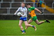 5 January 2020; Kieran Hughes of Monaghan in action against Caolan McGonagle of Donegal during the Bank of Ireland Dr McKenna Cup Round 2 match between Donegal and Monaghan at Páirc MacCumhaill in Ballybofey, Donegal. Photo by Philip Fitzpatrick/Sportsfile