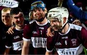 5 January 2020; Brendan Maher of Borris-Ileigh, right, and his team-mates celebrate after the AIB GAA Hurling All-Ireland Senior Club Championship semi-final between St Thomas' and Borris-Ileigh at LIT Gaelic Grounds in Limerick. Photo by Piaras Ó Mídheach/Sportsfile