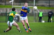 5 January 2020; Liam Boland of Tipperary in action against Cormac Coffey of Kerry during the 2020 McGrath Cup Group B match between Tipperary and Kerry at Clonmel Sportsfield in Clonmel, Tipperary. Photo by Brendan Moran/Sportsfile
