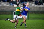 5 January 2020; Colm O'Shaughnessy of Tipperary in action against Cormac Coffey of Kerry during the 2020 McGrath Cup Group B match between Tipperary and Kerry at Clonmel Sportsfield in Clonmel, Tipperary. Photo by Brendan Moran/Sportsfile