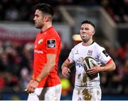 3 January 2020; John Cooney of Ulster and Conor Murray of Munster during the Guinness PRO14 Round 10 match between Ulster and Munster at Kingspan Stadium in Belfast. Photo by Harry Murphy/Sportsfile
