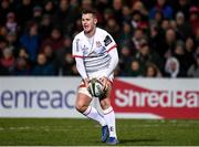 3 January 2020; Billy Burns of Ulster during the Guinness PRO14 Round 10 match between Ulster and Munster at Kingspan Stadium in Belfast. Photo by Harry Murphy/Sportsfile