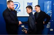 4 January 2020; Leinster players Michael Bent, left, and Rowan Osborne with supporters in the Blue Room at the Guinness PRO14 Round 10 match between Leinster and Connacht at the RDS Arena in Dublin. Photo by Sam Barnes/Sportsfile