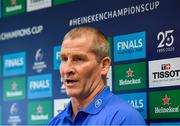 6 January 2020; Senior coach Stuart Lancaster during a Leinster Rugby Press Conference at Leinster Rugby Headquarters in UCD, Dublin. Photo by Harry Murphy/Sportsfile