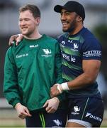 4 January 2020; Kieran Marmion, left, and and Bundee Aki during Connacht Rugby squad training at The Sportsground in Galway. Photo by Sam Barnes/Sportsfile