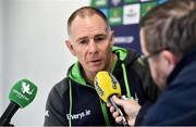 4 January 2020; Connacht head coach Andy Friend speaking during a Connacht Rugby press conference at The Sportsground in Galway. Photo by Sam Barnes/Sportsfile