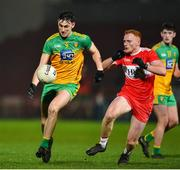 8 January 2020; Michael Langan of Donegal in action against Conor McAtamney of Derry during the Bank of Ireland Dr McKenna Cup Round 3 match between Derry and Donegal at Celtic Park in Derry. Photo by Oliver McVeigh/Sportsfile