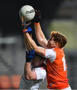 8 January 2020; Jason Duffy of Armagh in action against Michael O'Neill of Tyrone during the Bank of Ireland Dr McKenna Cup Round 3 match between Armagh and Tyrone at Athletic Grounds in Armagh. Photo by Piaras Ó Mídheach/Sportsfile
