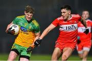 8 January 2020; Conor Morrison of Donegal in action against Ben McCarron of Derry during the Bank of Ireland Dr McKenna Cup Round 3 match between Derry and Donegal at Celtic Park in Derry. Photo by Oliver McVeigh/Sportsfile