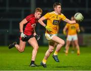 8 January 2020; Eunan Walsh of Antrim in action against Pat Havern of Down during the Bank of Ireland Dr McKenna Cup Round 3 match between Down and Antrim at Páirc Esler in Newry, Down. Photo by Philip Fitzpatrick/Sportsfile