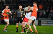 8 January 2020; Conn Kilpatrick of Tyrone in action against Rian O'Neill of Armagh during the Bank of Ireland Dr McKenna Cup Round 3 match between Armagh and Tyrone at Athletic Grounds in Armagh. Photo by Piaras Ó Mídheach/Sportsfile