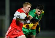 8 January 2020; Christopher Bradley of Derry in action against Caolan McGonagle of Donegal during the Bank of Ireland Dr McKenna Cup Round 3 match between Derry and Donegal at Celtic Park in Derry. Photo by Oliver McVeigh/Sportsfile