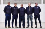 8 January 2020; Borris-lleigh manager Johnny Kelly, centre, with his management team, from left, Philip Maher, Martin Maher, Philip Kenny and Angelo Walsh during a Borris-Ileigh GAA club press conference at Borris-Ileigh GAA club in Borrisoleigh, Tipperary. Photo by Sam Barnes/Sportsfile