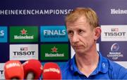 10 January 2020; Head coach Leo Cullen during a Leinster Rugby press conference at Leinster Rugby Headquarters in UCD, Dublin. Photo by Harry Murphy/Sportsfile