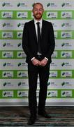 10 January 2020; Chris Shields of Dundalk FC arrives ahead of the SSE Airtricity / Soccer Writers Association of Ireland Diamond Jubilee Personality of the Year Awards 2019 at the Clayton Hotel in Dublin. Photo by Seb Daly/Sportsfile