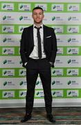 10 January 2020; Jack Byrne of Shamrock Rovers arrives ahead of the SSE Airtricity / Soccer Writers Association of Ireland Diamond Jubilee Personality of the Year Awards 2019 at the Clayton Hotel in Dublin. Photo by Seb Daly/Sportsfile