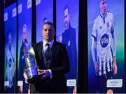 10 January 2020; Dundalk manager Vinny Perth with his the Dan McCaffrey Personality of the Year award during the SSE Airtricity / Soccer Writers Association of Ireland Diamond Jubilee Personality of the Year Awards 2019 at the Clayton Hotel in Dublin. Photo by Seb Daly/Sportsfile