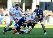 11 January 2020; Marcell Coetzee of Ulster is tackled by Morgan Parra during the Heineken Champions Cup Pool 3 Round 5 match between ASM Clermont Auvergne and Ulster at Stade Marcel-Michelin in Clermont-Ferrand, France. Photo by John Dickson/Sportsfile