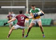 11 January 2020; Michael Brazil of Offaly in action against Noel Mulligan of Westmeath during the O'Byrne Cup Semi-Final match between Offaly and Westmeath at Bord na Móna O'Connor Park in Tullamore, Offaly. Photo by Harry Murphy/Sportsfile