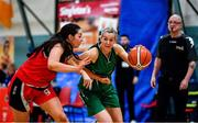 11 January 2020; Deirdre Tomlinson of Portlaoise Panthers in action against Deirdre Geaney of Team Tom McCarthy's St Mary's during the Hula Hoops Women's Division One National Cup Semi-Final match between Team Tom McCarthy's St Mary's and Portlaoise Panthers at Parochial Hall in Cork. Photo by Sam Barnes/Sportsfile