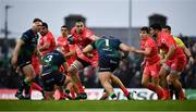 11 January 2020; Florian Verhaeghe of Toulouse is tackled by Paddy McAllister of Connacht during the Heineken Champions Cup Pool 5 Round 5 match between Connacht and Toulouse at The Sportsground in Galway. Photo by David Fitzgerald/Sportsfile