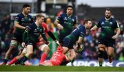 11 January 2020; Jack Carty of Connacht is tackled by Cheslin Kolbe of Toulouse during the Heineken Champions Cup Pool 5 Round 5 match between Connacht and Toulouse at The Sportsground in Galway. Photo by David Fitzgerald/Sportsfile