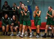 11 January 2020; Portlaoise Panthers players react at the final buzzer during the Hula Hoops Women's Division One National Cup Semi-Final match between Team Tom McCarthy's St Mary's and Portlaoise Panthers at Parochial Hall in Cork. Photo by Sam Barnes/Sportsfile