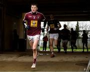 11 January 2020; Conor Slevin of Westmeath runs out for the second half during the O'Byrne Cup Semi-Final match between Offaly and Westmeath at Bord na Móna O'Connor Park in Tullamore, Offaly. Photo by Harry Murphy/Sportsfile