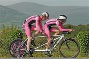 20 June 2013; Aidan Reade and Declan Lally, Black Rose Racing, in action during the Elite Men's Tandem National Time-Trial Championships. Carlingford, Co. Louth. Picture credit: Stephen McMahon / SPORTSFILE