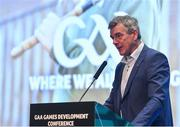 11 January 2020; Colm O'Rourke, Principal, St Patrick's Classical School, Navan, speaking at the GAA Games Development Conference, in partnership with Sky Sports, which took place in Croke Park on Friday and Saturday. A record attendance of over 800 delegates were present to see over 30 speakers from the world of Gaelic games, sport and education. Photo by Seb Daly/Sportsfile
