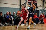 11 January 2020; Lynn Tunnah of Templeogue in action against Erin Maguire of UU Tigers during the Hula Hoops U20 Women's National Cup Semi-Finall match between Templeogue BC and UU Tigers at Parochial Hall in Cork. Photo by Sam Barnes/Sportsfile