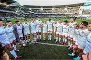 11 January 2020; Iain Henderson talks to his players after the Heineken Champions Cup Pool 3 Round 5 match between ASM Clermont Auvergne and Ulster at Stade Marcel-Michelin in Clermont-Ferrand, France. Photo by John Dickson/Sportsfile
