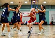 11 January 2020; Clodagh O'Brien of Templeogue in action against UU Tigers during the Hula Hoops U20 Women's National Cup Semi-Finall match between Templeogue BC and UU Tigers at Parochial Hall in Cork. Photo by Sam Barnes/Sportsfile