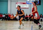 11 January 2020; Erin Maguire of UU Tigers in action against Berta Rodriguex Carrera of Templeogue during the Hula Hoops U20 Women's National Cup Semi-Finall match between Templeogue BC and UU Tigers at Parochial Hall in Cork. Photo by Sam Barnes/Sportsfile