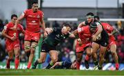 11 January 2020; Pita Ahki of Toulouse is tackled by Tom Daly, right, and Tom McCartney of Connacht during the Heineken Champions Cup Pool 5 Round 5 match between Connacht and Toulouse at The Sportsground in Galway. Photo by David Fitzgerald/Sportsfile