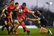 11 January 2020; Pita Ahki of Toulouse is tackled by Tom Daly of Connacht during the Heineken Champions Cup Pool 5 Round 5 match between Connacht and Toulouse at The Sportsground in Galway. Photo by David Fitzgerald/Sportsfile