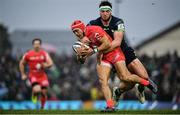 11 January 2020; Cheslin Kolbe of Toulouse is tackled by Tom Daly of Connacht during the Heineken Champions Cup Pool 5 Round 5 match between Connacht and Toulouse at The Sportsground in Galway. Photo by David Fitzgerald/Sportsfile