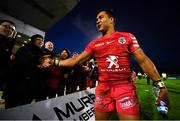 11 January 2020; Cheslin Kolbe of Toulouse is congratulated by fans following during the Heineken Champions Cup Pool 5 Round 5 match between Connacht and Toulouse at The Sportsground in Galway. Photo by David Fitzgerald/Sportsfile