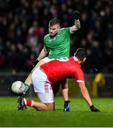 11 January 2020; Jamie Lee of Limerick shoots as Thomas Clancy of Cork looks on during the McGrath Cup Final match between Cork and Limerick at LIT Gaelic Grounds in Limerick. Photo by Piaras Ó Mídheach/Sportsfile