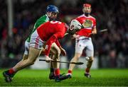 11 January 2020; Chris O'Leary of Cork in action against David Reidy of Limerick during the Co-Op Superstores Munster Hurling League Final match between Limerick and Cork at LIT Gaelic Grounds in Limerick. Photo by Piaras Ó Mídheach/Sportsfile