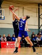 12 January 2020; Kate Hickey of Waterford Wildcats in action against Sarah Browne of DCU Mercy during the Hula Hoops U18 Women's National Cup Semi-Final between Waterford Wildcats and DCU Mercy at Parochial Hall in Cork. Photo by Sam Barnes/Sportsfile