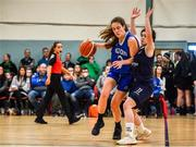 12 January 2020; Anna Grogan of Waterford Wildcats in action against Sarah Browne of DCU Mercy during the Hula Hoops U18 Women's National Cup Semi-Final between Waterford Wildcats and DCU Mercy at Parochial Hall in Cork. Photo by Sam Barnes/Sportsfile